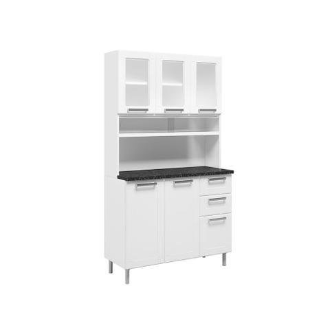Imagem de Kit Cozinha Compacta com Vidro 6 Portas e 2 Gavetas Bertolini