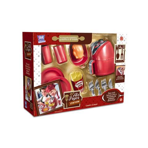 Imagem de Kit cozinha de brinquedo air fryer chef kids menino menina com acessorios divertidos