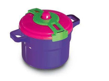 Imagem de Kit cozinha infantil com 2 panelas de pressão coloridas