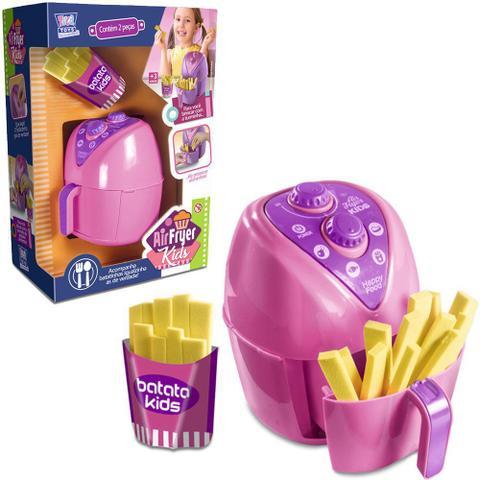 Imagem de Kit cozinha infantil com fritadeira + batata frita air fryer