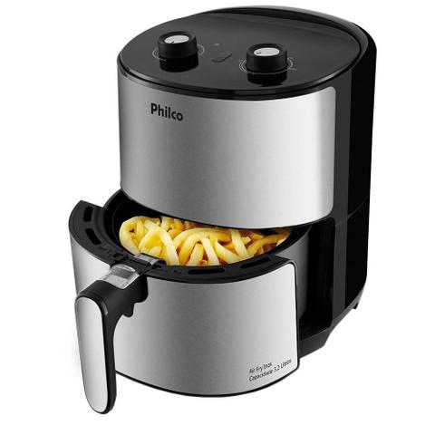 Imagem de Kit Cozinha Philco Depurador Slim PDR60B + Fritadeira Air Fry PFR08PI, 3.2L - 110V
