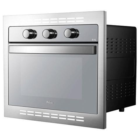Imagem de Kit Cozinha Philco - Forno Elétrico de Embutir 46L +  Fritadeira Elétrica Saúde Inox 3,2L - 110V