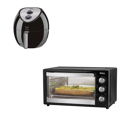 Imagem de Kit Cozinha Philco - Forno Elétrico  PFE38P +  Fritadeira Elétrica Saúde Inox 3L - 220V