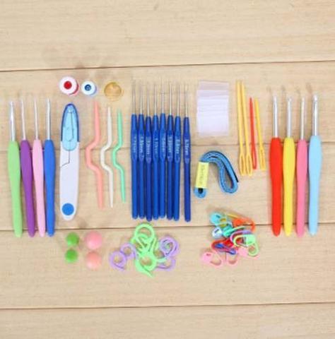 Imagem de Kit Crochê 16 Agulhas Com Acessórios E Case O Mais Completo