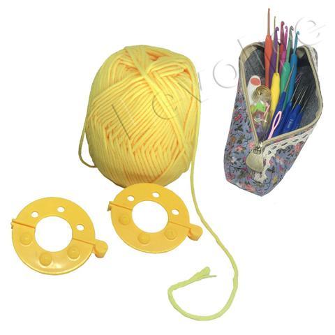 Imagem de Kit Crochê Premium 16 Agulhas Com Acessórios + Estojo