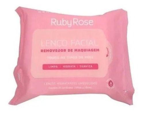 Imagem de Kit Cuidados Com A Pele Ruby Rose Facial Demaquilante Sérum