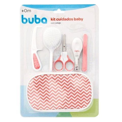 Imagem de Kit Cuidados E Higiene Bebê Com Pente Escova Cortador De Unha Estojo Rosa Buba