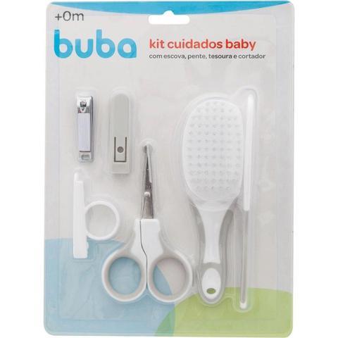 Imagem de Kit Cuidados E Higiene Do Bebê Com 4 Peças Cinza Buba