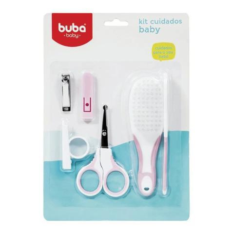 Imagem de Kit Cuidados Para o Bebe Escova Pente Tesoura E Cortador- BUBA