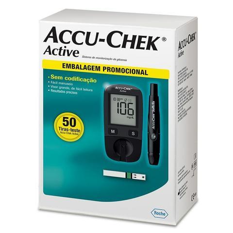 Imagem de Kit de Aparelho de Glicose Accu-Chek Active +50 Tiras