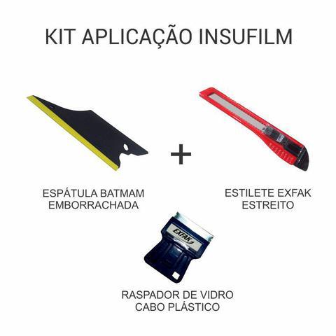 Imagem de Kit de Aplicação de Insulfilm - Espátula + Estilete + Raspador de Vidro