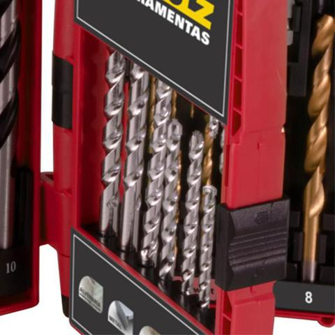 Imagem de Kit de Brocas e Bits com 51 Peças p/ Alvenaria, Madeira, Metal e Plástico SCHULZ