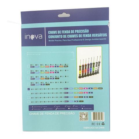 Imagem de Kit de Chaves de precisão para Celulares, Tablets e Eletrônicos Inova SCR-7193 ( Philips, Fenda, Espátulas, Pinças 16x1 )