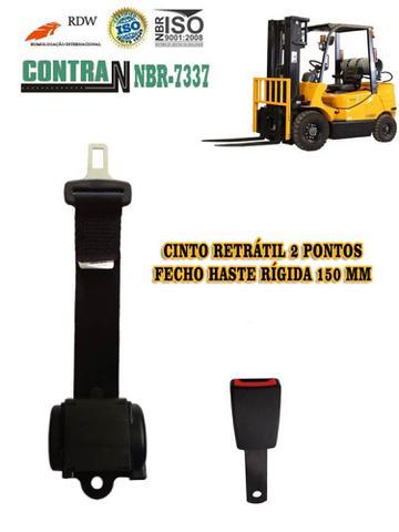 Imagem de Kit de Cinto de Segurança 2 pontos retrátil lado esquerdo - Empilhadeira / Trator