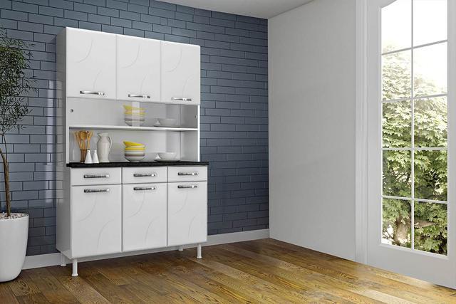 Imagem de Kit de Cozinha Telasul Safira de Aço 120cm Branco