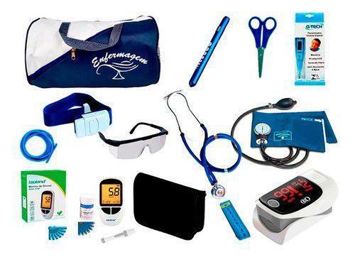 Imagem de Kit de Enfermagem Super Luxo com Aparelho de Pressão