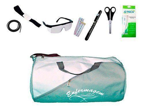 Imagem de Kit de Enfermagem Super Luxo com Aparelho de Pressão Vinho Premium c/ Bolsa modelo 2