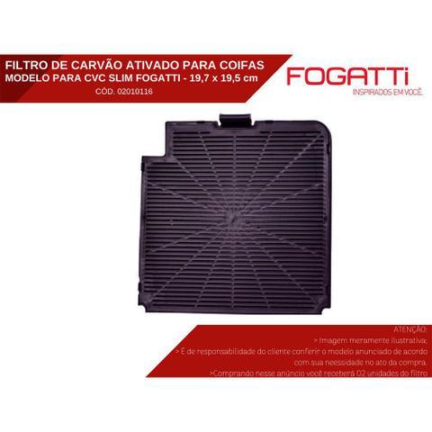 Imagem de Kit de Filtros Alumínio + Carvão para Coifa Fogatti Modelo CVC Slim