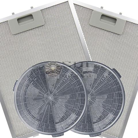 Imagem de Kit de Filtros Metálico + Carvão para Coifa Electrolux 60CT