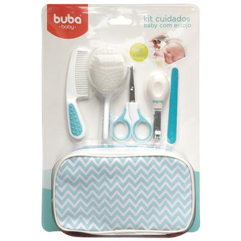 Imagem de Kit De Higiene Cuidados Baby Para Bebês Com estojo Azul - Buba