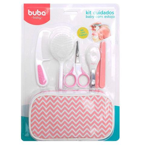 Imagem de Kit De Higiene Cuidados Baby Para Bebês Com estojo Rosa - Buba
