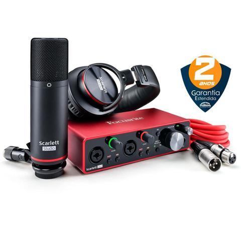 Imagem de Kit de Interface de Áudio USB Focusrite Scarlett 2i2 Studio Pack 3ª Geração