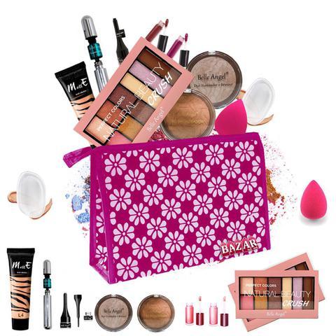 Imagem de Kit de Maquiagem completo Belle Angel Base Matte Alta Cobertura + Cortesias