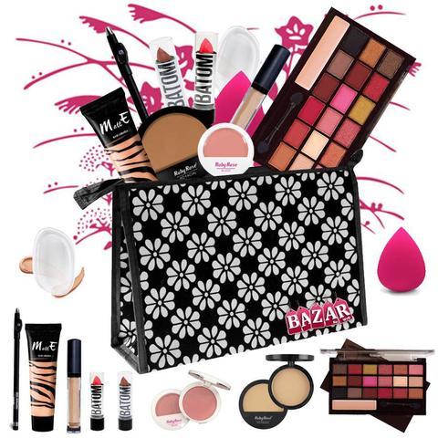 Imagem de Kit de Maquiagem Completo Ruby Rose Luisance Fenzza Paleta 18 Cores Ruby Rose