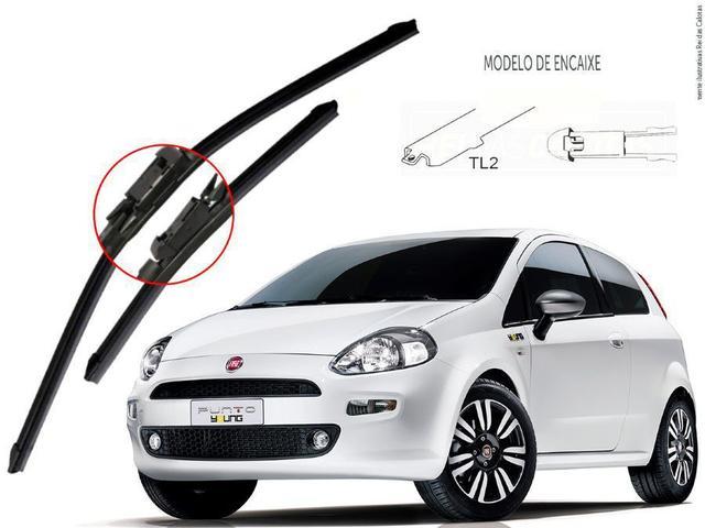 Imagem de Kit de Palhetas Limpador de Parabrisa Fiat Punto 2008 2009 2010 2011 2012