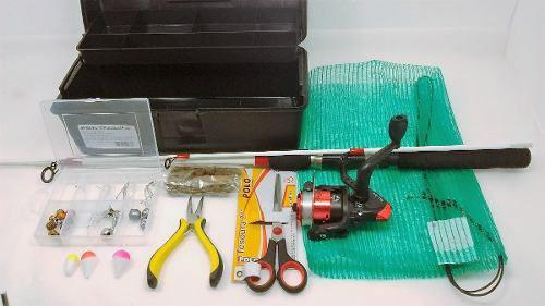Imagem de Kit De Pesca Completo Vara Molinete Maleta Isca Promoção