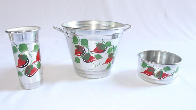 Imagem de Kit de pia aluminio prata/pimenta*