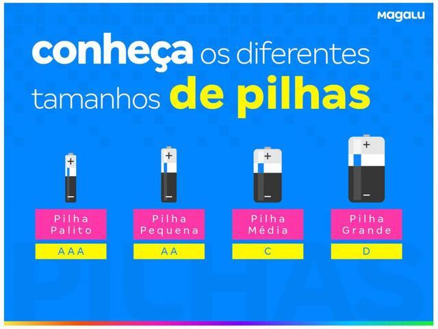 Imagem de Kit de Pilha AA Pequena + AAA Palito Alcalina