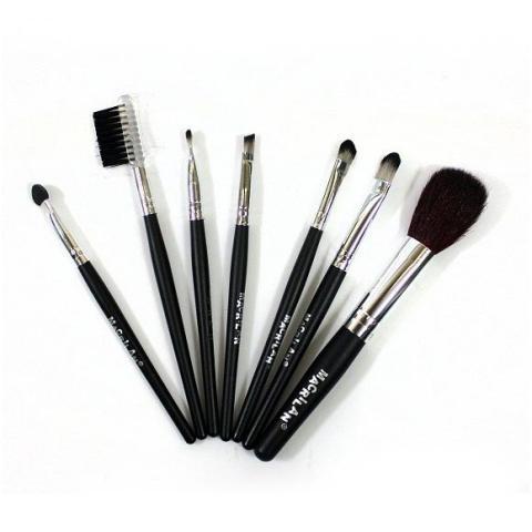 Imagem de Kit de Pincéis para Maquiagem Macrilan c/ 7 Pincéis KP1-3