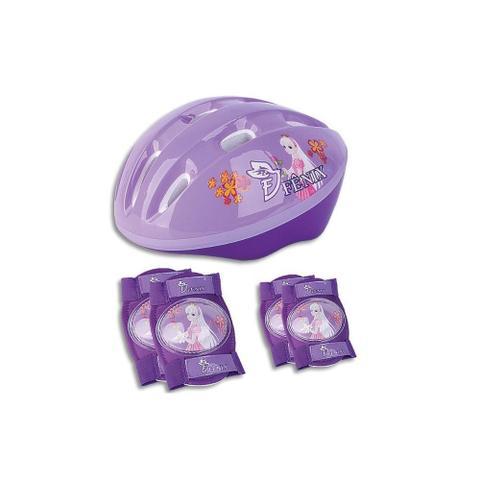 Imagem de Kit de Proteção - Capacete e acessórios - Roxo - Fênix