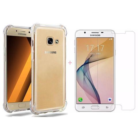 Imagem de Kit De Proteção Para Galaxy J7 Pro Com Capa Tpu Transparente + Película Flex De Gel