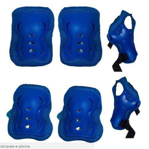Imagem de Kit De Proteção Sports Safety Infantil Azul