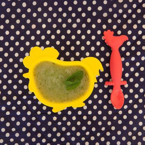 Imagem de Kit de Refeição Kids Galinha com Pintinho Vermelho e Amarelo - Gourmet Jr.