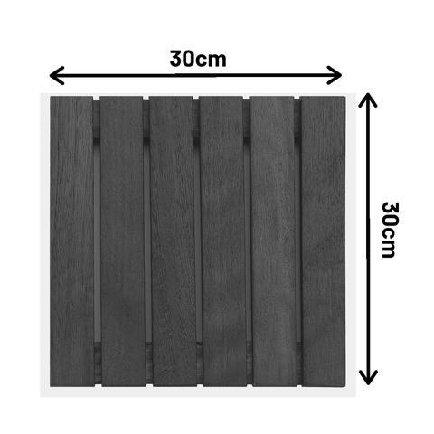 Imagem de Kit deck modular 30x30cm padrão imbuia 20 placas - mader silva