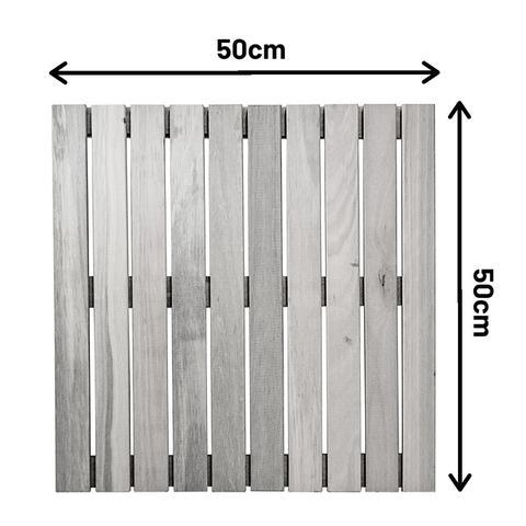 Imagem de Kit deck modular 50x50cm eucalipto natural 12 placas - mader silva