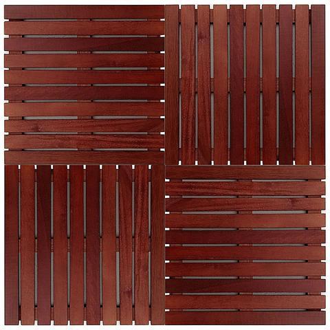 Imagem de Kit deck modular 50x50cm padrão imbuia 12 placas - mader silva