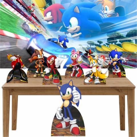 Imagem de Kit Decoração de Festa Totem Display 8 peças Sonic