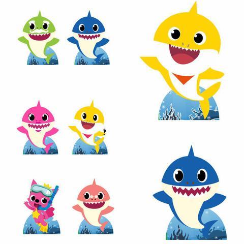 Imagem de Kit Decoração de Festa Totem Display 9 peças Baby Shark