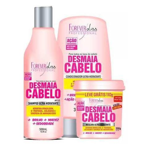 Imagem de Kit Desmaia Cabelo Máscara 350g + Shampoo + Condicionador