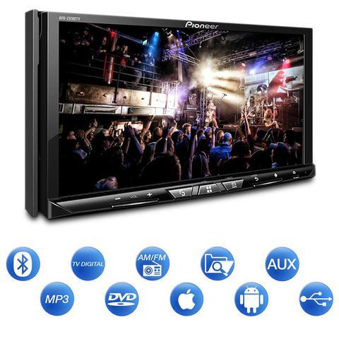 Imagem de Kit Dvd Player Pioneer Avh-z9180tv 2 Din Bluetooth TV Espelhamento Android iOS + Câmera Ré 2 em 1