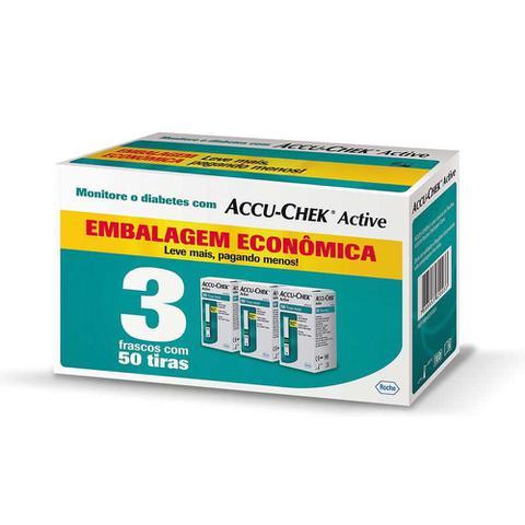 Imagem de Kit Econômico Tiras Accu Chek Active Roche - 150 Unidades