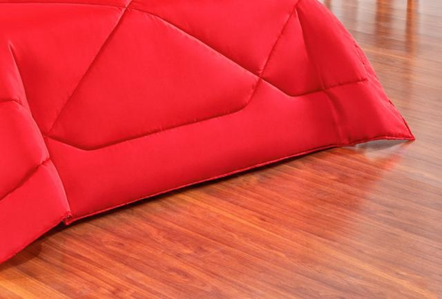Imagem de Kit Ed Casal Queen Dupla Face Cherry + Jg de Lençol 07 Pçs - Vermelho