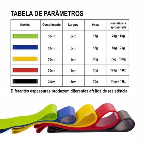 Imagem de Kit Elástico 11 Peças + Mini Band 5 Níveis Faixa Elástica Malhar Em Casa + 2 bolsas