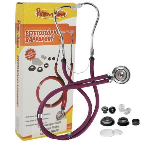 Imagem de Kit Enfermagem Com Aparelho De Pressão E Estetoscópio Rappaport Vinho