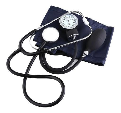 Imagem de Kit Enfermagem Esfigmomanômetro Aparelho De Medir Pressão Arterial + Estetoscópio