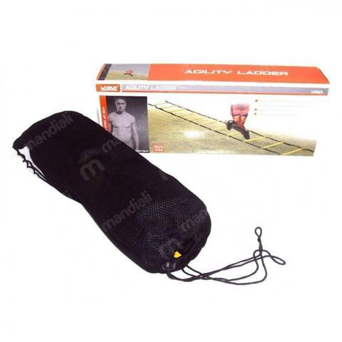 Imagem de Kit Escada de Agilidade 4 Degraus + 3 Extensores Elastico + Corda Pular + Roda Abdominal  liveup